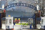 The entrance gate to The Navy Yard in Philadelphia